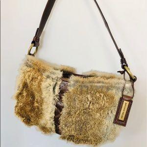 ANTONIO MELANI Rabbit Fur Brown Leather